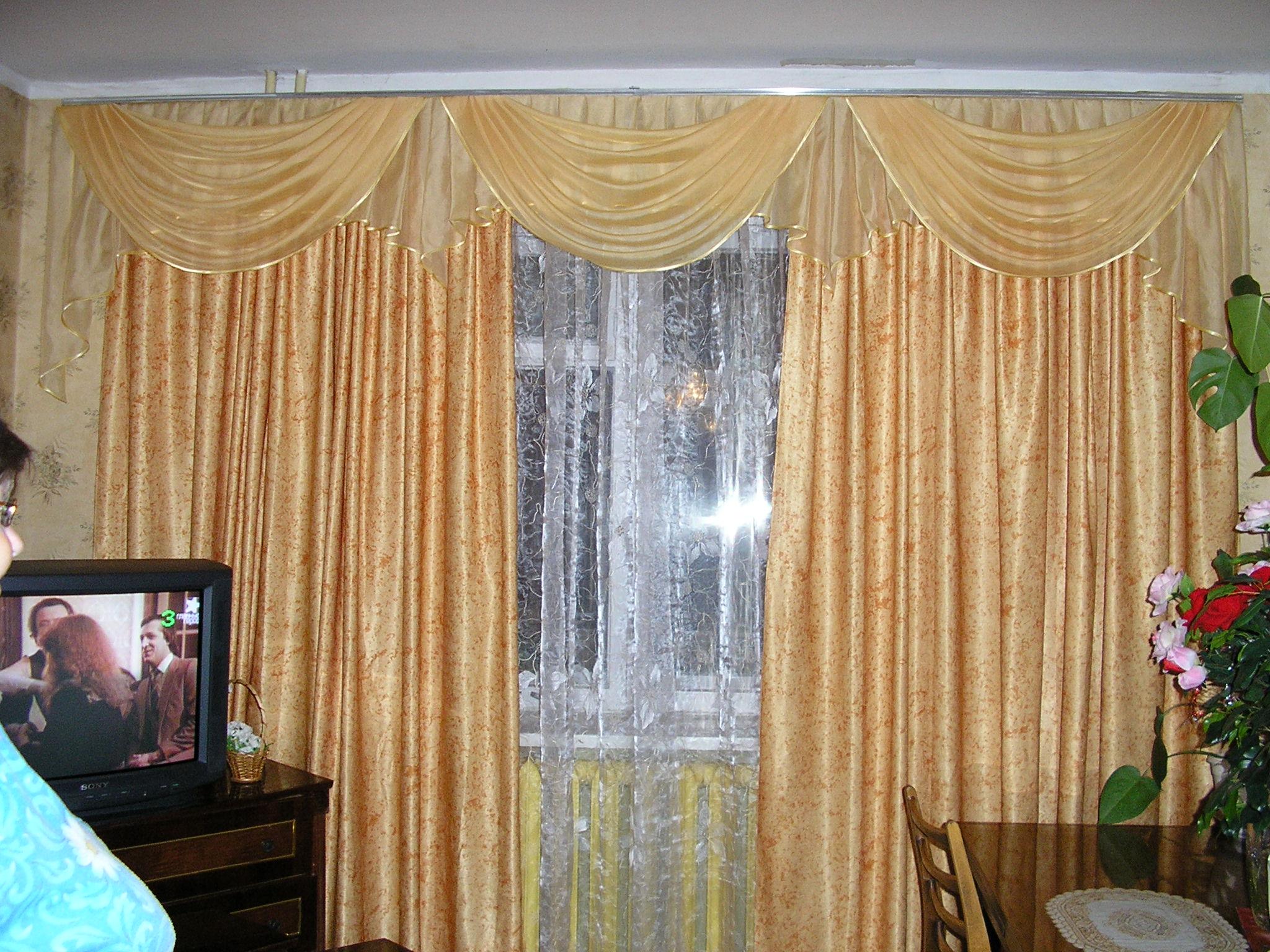фото образцы штор для гостинной